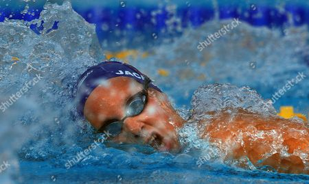 Joanne Jackson Great Britain in Action During Her Silver Medal Swim in the Women's 800m Final Italy