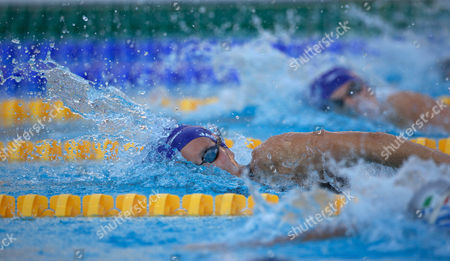 Joanne Jackson Great Britain Goes Past Team Mate Rebecca Adlington to Claim Silver in the Women's 800m Freestyle Italy