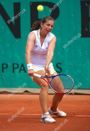 Katie O Brien of Great Britain in Action at Roland Garros Paris 2010 France Paris