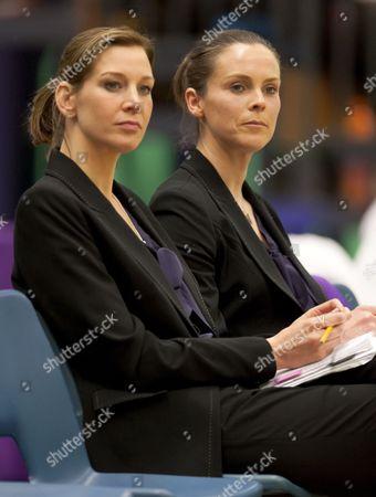 Hertfordshire Mavericks Coaches Kat Ratnapala (left) and Karen Atkinson