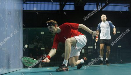 James Willstrop of England in Action During His First Round Victory Over Ben Ford of England United Kingdom Manchester