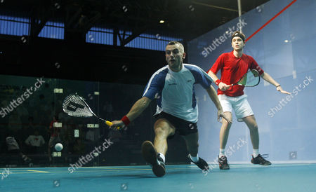 Ben Ford of England in Action During Defeat in the First Round to James Willstrop of England United Kingdom Manchester