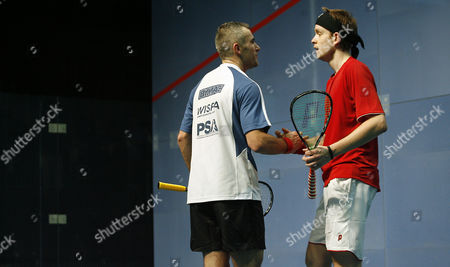 Ben Ford of England Shakes Hands with First Round Match Winner James Willstrop of England United Kingdom Manchester
