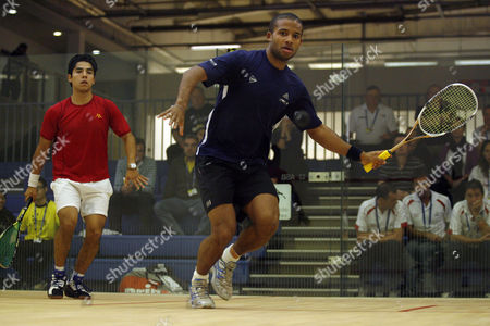 Adrian Grant of England During His Second Round Match Against Jorge I B Ferreira of Mexico United Kingdom Manchester