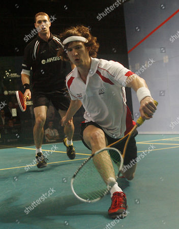 Jonathan Kemp of England in Action During His Second Round Match Against David Palmer of Australia United Kingdom Manchester