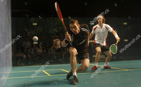 David Palmer of Australia in Action During His Second Round Match Against Jonathan Kemp of England United Kingdom Manchester