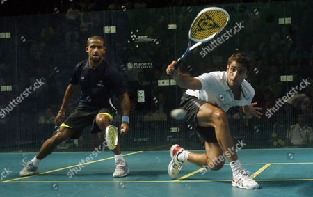 Karim Darwish of Egypt in the Quarter-final Against Adrian Grant of England United Kingdom Manchester