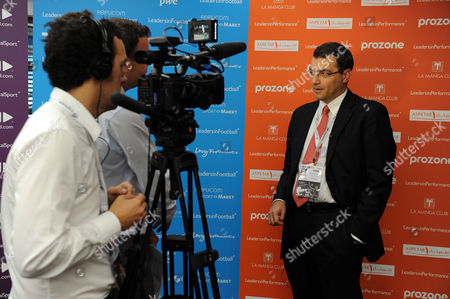 Stock Photo of Liverpool Fc Director of Football Damien Comolli is Interviewed United Kingdom London