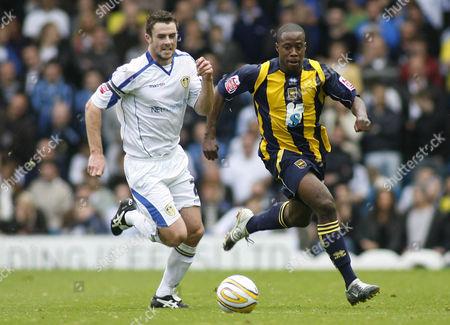 Leeds United Captain Frazer Richardson and Joe Anyinsah of Brighton & Hove Albion United Kingdom Leeds