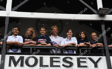 Great Britain Olympic Gold Medallist Andy Triggs Hodge Poses For Photographs with A Group of Richmond School Children While Promoting the London Youth Games Triggs Hodge Rows For the Skipton Building Society Sponsored Molesey Boat Club in South West London