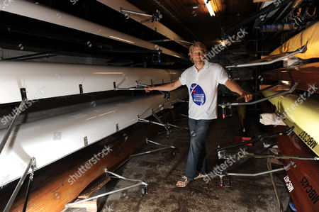 Great Britain Olympic Gold Medallist Andy Triggs Hodge Poses For A Photograph While Promoting the London Youth Games Triggs Hodge Rows For the Skipton Building Society Sponsored Molesey Boat Club in South West London