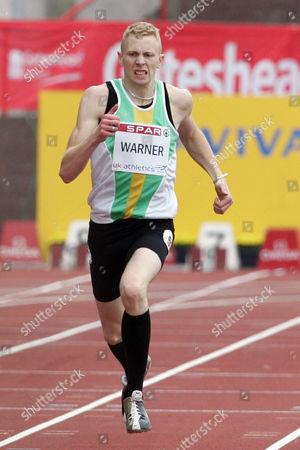 Michael Warner of Notts A C Competes at the Aviva British Grand Prix Gateshead International Stadium United Kingdom Gateshead