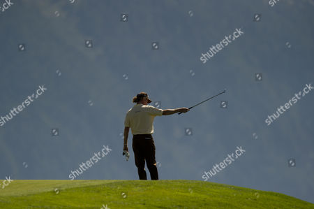 Miguel Angle Jimenez of Spain Looks For His Ball Near the Green On the 7th Hole