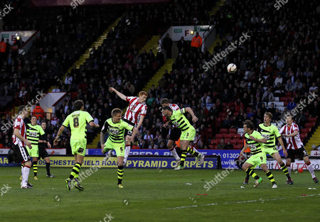 Stock Image of Dave Kitson of Sheffield United Heads Towards Goal United Kingdom Sheffield