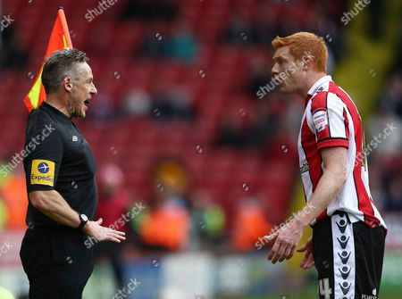 Dave Kitson of Sheffield United Argues with the Assistant Referee United Kingdom Sheffield