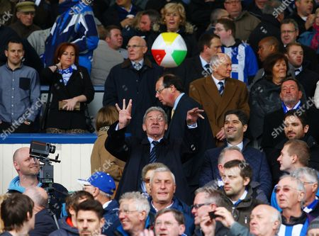 Stock Picture of Sheffield Wednesday Chairman Milan Mandaric Throws A Beach Ball United Kingdom Sheffield