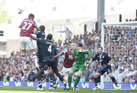 Calum Davenport of West Ham Scores A Goal United Kingdom London