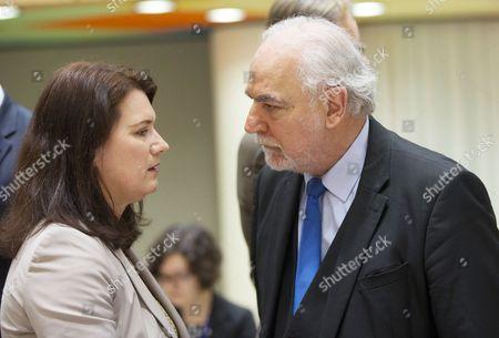Ann Linde and Louis Grech