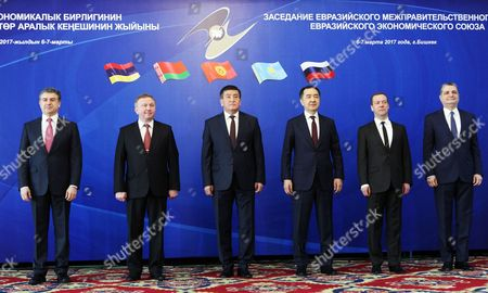Editorial photo of Eurasian Intergovernmental Council session in Bishkek, Kyrgyzstan - 07 Mar 2017