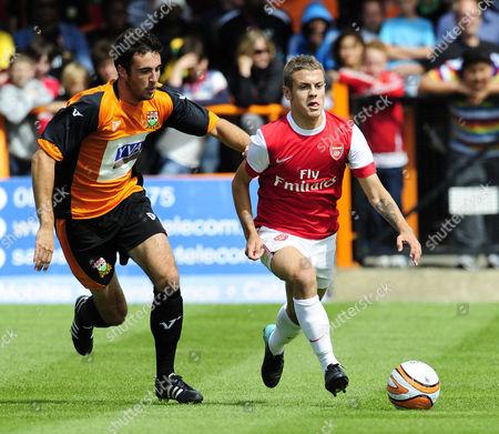 Jack Wilshere of Arsenal and Danny Kelly of Barnet United Kingdom Barnet