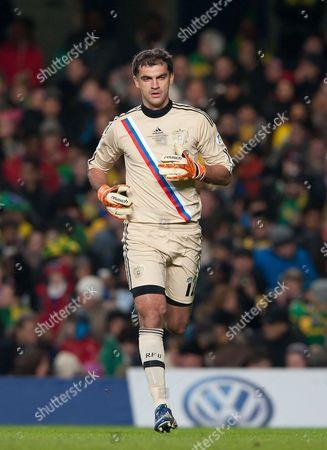 Goalkeeper Vladimir Gabulov of Russia United Kingdom London