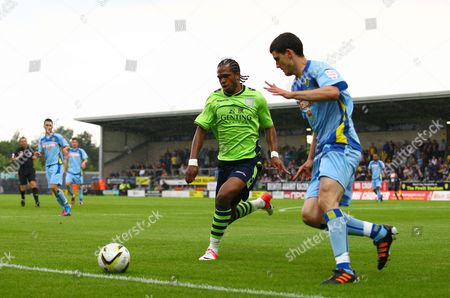 Daniel Johnson of Aston Villa and Anthony O'connor of Burton Albion United Kingdom Burton