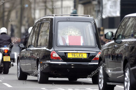 The Funeral Procession of Baroness Margaret Thatcher Passes Through Parliament Square
