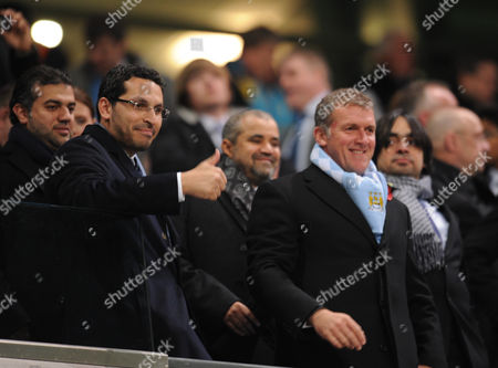 Khaldoon Al Mubarak and Garry Cook of Manchester City United Kingdom Manchester