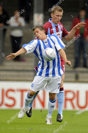 Andrew Wright of Scunthorpe United and Dean Cox of Brighton and Hove Albion United Kingdom Scunthorpe