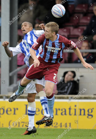 Andrew Wright of Scunthorpe United and Mark Wright of Brighton and Hove Albion United Kingdom Scunthorpe