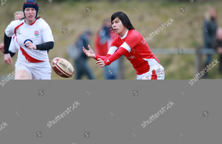 Stock Photo of Naomi Thomas of Wales Women During the 6 Nations Match Against England United Kingdom Taff Wells, Caerfilly, Wales