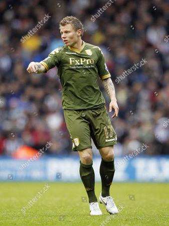 Bjorn Helge Riise of Fulham Points United Kingdom Birmingham