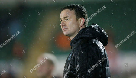 Plymouth's manager Derek Adams  during the Sky Bet League 2 match between Plymouth Argyle and Blackpool on Tuesday 7h March 2017 at Home Park, Plymouth, Devon - Photo: Dave Rowntree/PPAUK