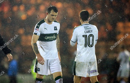 Final whistle despair for Plymouth's Jimmy Spencer  during the Sky Bet League 2 match between Plymouth Argyle and Blackpool on Tuesday 7h March 2017 at Home Park, Plymouth, Devon - Photo: Dave Rowntree/PPAUK