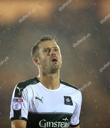 Final whistle despair for Plymouth's David Fox  during the Sky Bet League 2 match between Plymouth Argyle and Blackpool on Tuesday 7h March 2017 at Home Park, Plymouth, Devon - Photo: Dave Rowntree/PPAUK