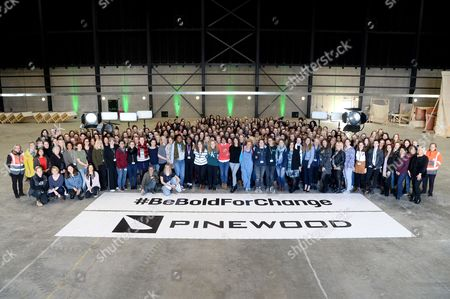 Editorial image of The women of Pinewood Studios gather to celebrate International Women's Day, Iver, UK - 07 Mar 2017