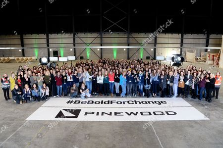 The women of Pinewood Studios across every profession including Oscar Winning Costume Designer, Colleen Atwood and Katterli Frauenfelder as well as producers, set designers, marketing, construction, assistant directors, visual effects, reception, costume designers, lab operators, editors, accountants, prop makers, personal assistants, sculptors, costume makers, hair and make up artists, studio managers, graphic designers.