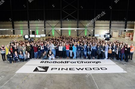 Editorial picture of The women of Pinewood Studios gather to celebrate International Women's Day, Iver, UK - 07 Mar 2017