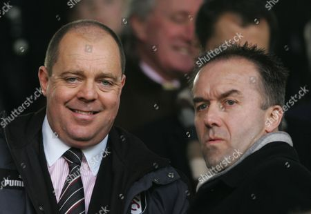 Fulham director Mark Collins, left and managing director David McNally