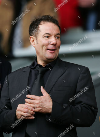 Derek Hatton, the controversial deputy leader of Liverpool Council, who was thrown out of the Labour Party for belonging to the leftwing Militant faction watches the Merseyside derby between Liverpool and Everton