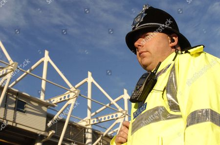 PC Peter Gill  outside the Riverside Stadium, Middlesbrough