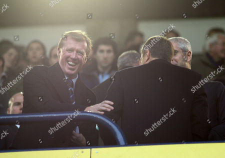 England coach Steve McClaren greets Chelsea owner Roman Abramovic