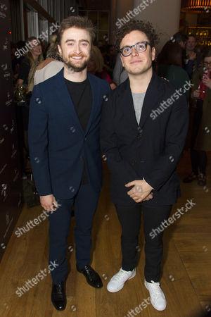 Daniel Radcliffe (Rosencrantz) and Joshua McGuire (Guildenstern)