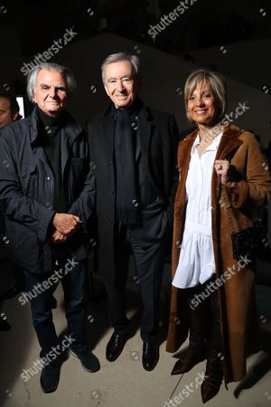 Stock Image of Patrick Demarchelier and Bernard Arnault and wife