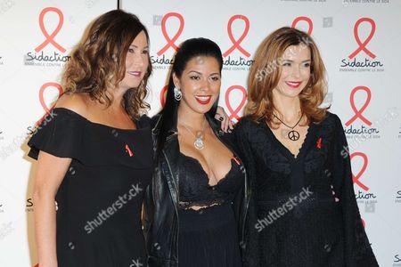Evelyne Thomas and Ayem Nour and Veronique Mounier