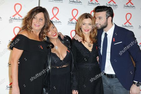 Evelyne Thomas and Ayem Nour and Veronique Mounier, Aymeric Bonnery