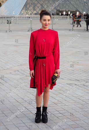 Editorial photo of Louis Vuitton show, Arrivals, Autumn Winter 2017, Paris Fashion Week, France - 07 Mar 2017