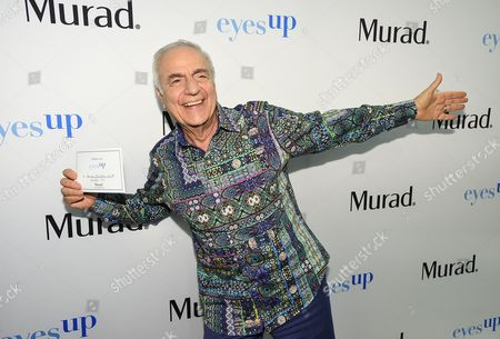 Murad skincare founder, Dr. Howard Murad encourages people around the world to make the pledge to go EyesUp for more human connections during a launch event at Murad headquarters, in El Segundo, Calif
