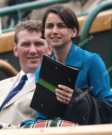 Lady Demetra Pinsent and husband Sir Matthew Pinsent, the former Rower, sitting in the royal box