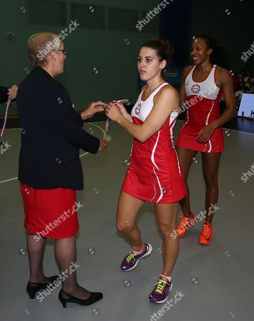 Mia Ritchie of England Netball Receives Her Medal Gb Worcester